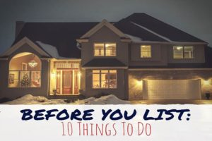 before you list