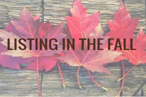 listing your home in the fall